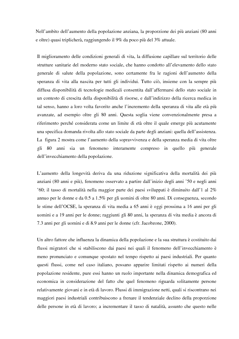 Anteprima della tesi: Invecchiamento della popolazione, stato sociale e assistenza agli anziani, Pagina 8