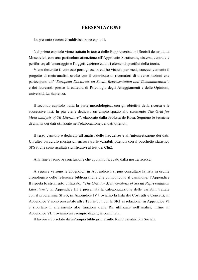 Anteprima della tesi: La diffusione delle rappresentazioni sociali in lingua portoghese, Pagina 2
