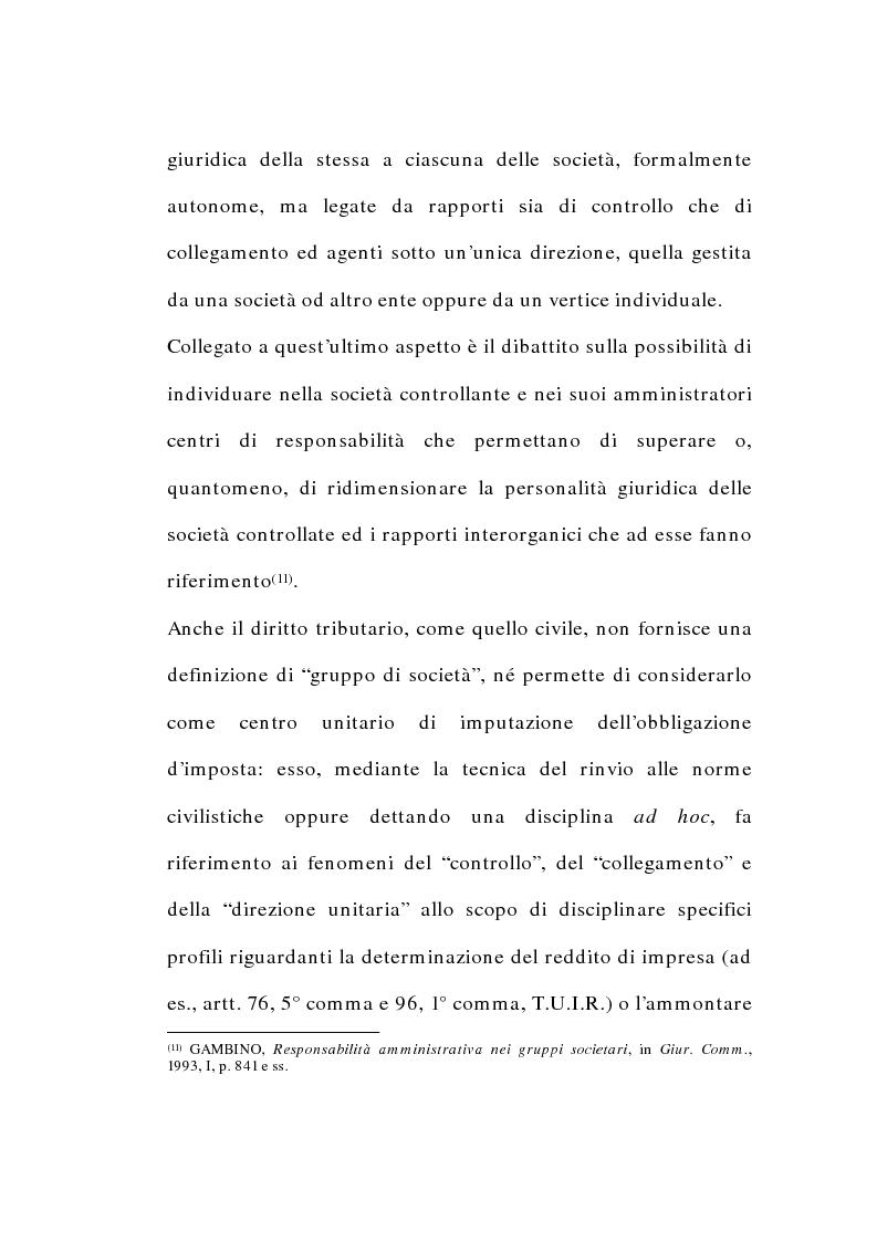 Anteprima della tesi: I gruppi di società nel diritto tributario, Pagina 7