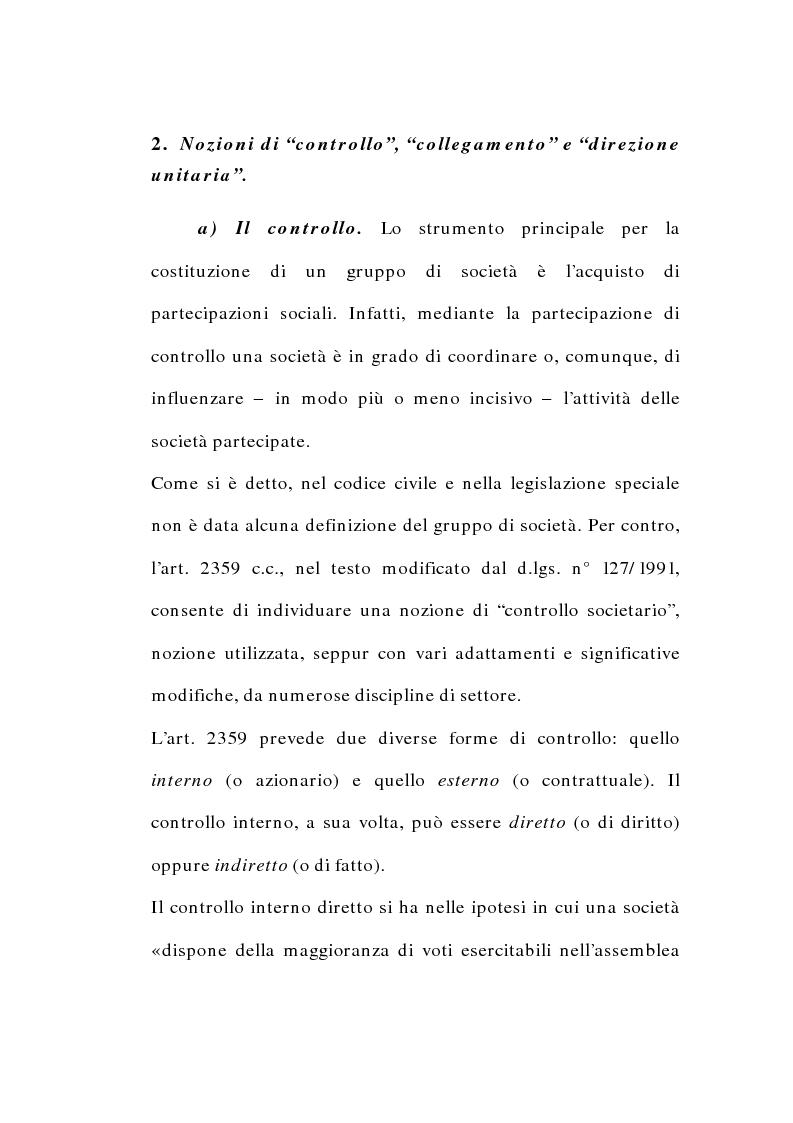 Anteprima della tesi: I gruppi di società nel diritto tributario, Pagina 9