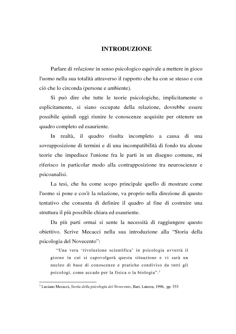 Anteprima della tesi: La 'relazione' come ente autonomo, Pagina 1