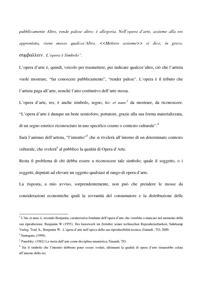 Anteprima della tesi: Visual arts. Dall'idea ai finanziamenti pubblici, Pagina 3