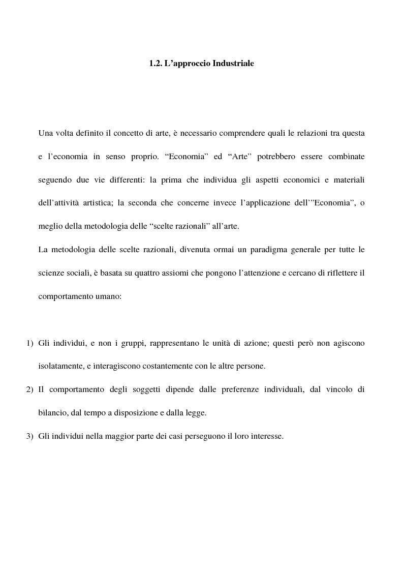 Anteprima della tesi: Visual arts. Dall'idea ai finanziamenti pubblici, Pagina 5