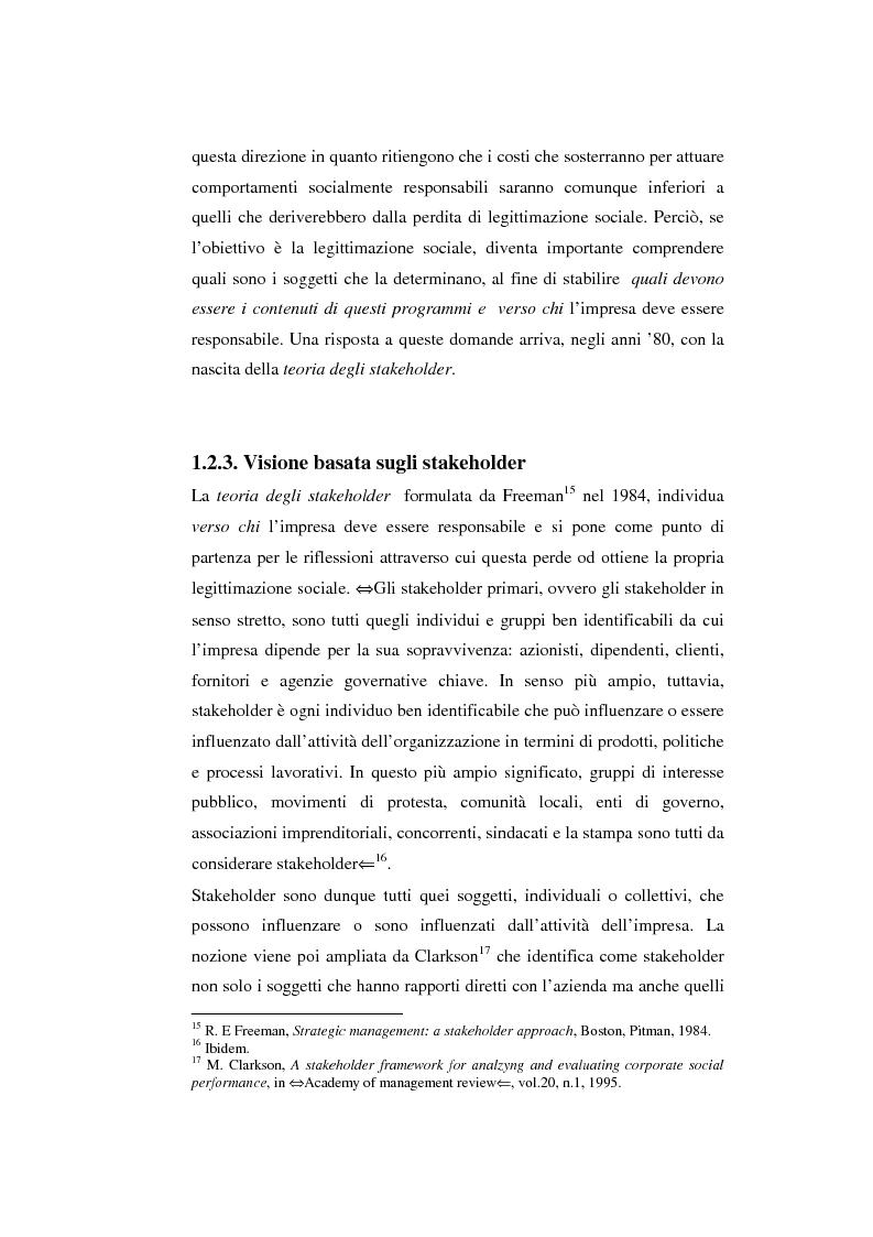 Anteprima della tesi: Il bilancio sociale come strumento di comunicazione per l'impresa: limiti e opportunità, Pagina 11