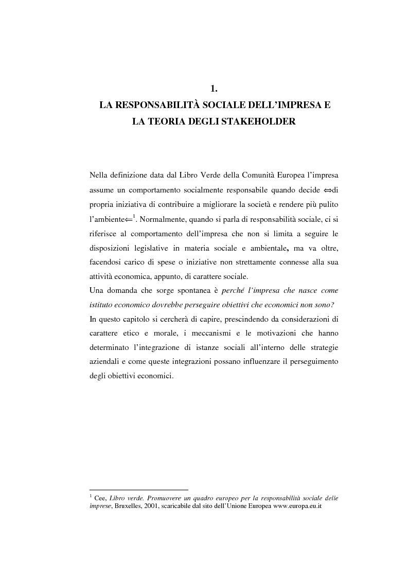 Anteprima della tesi: Il bilancio sociale come strumento di comunicazione per l'impresa: limiti e opportunità, Pagina 3