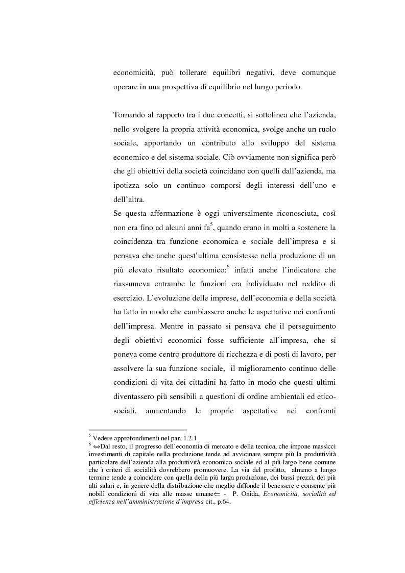 Anteprima della tesi: Il bilancio sociale come strumento di comunicazione per l'impresa: limiti e opportunità, Pagina 6