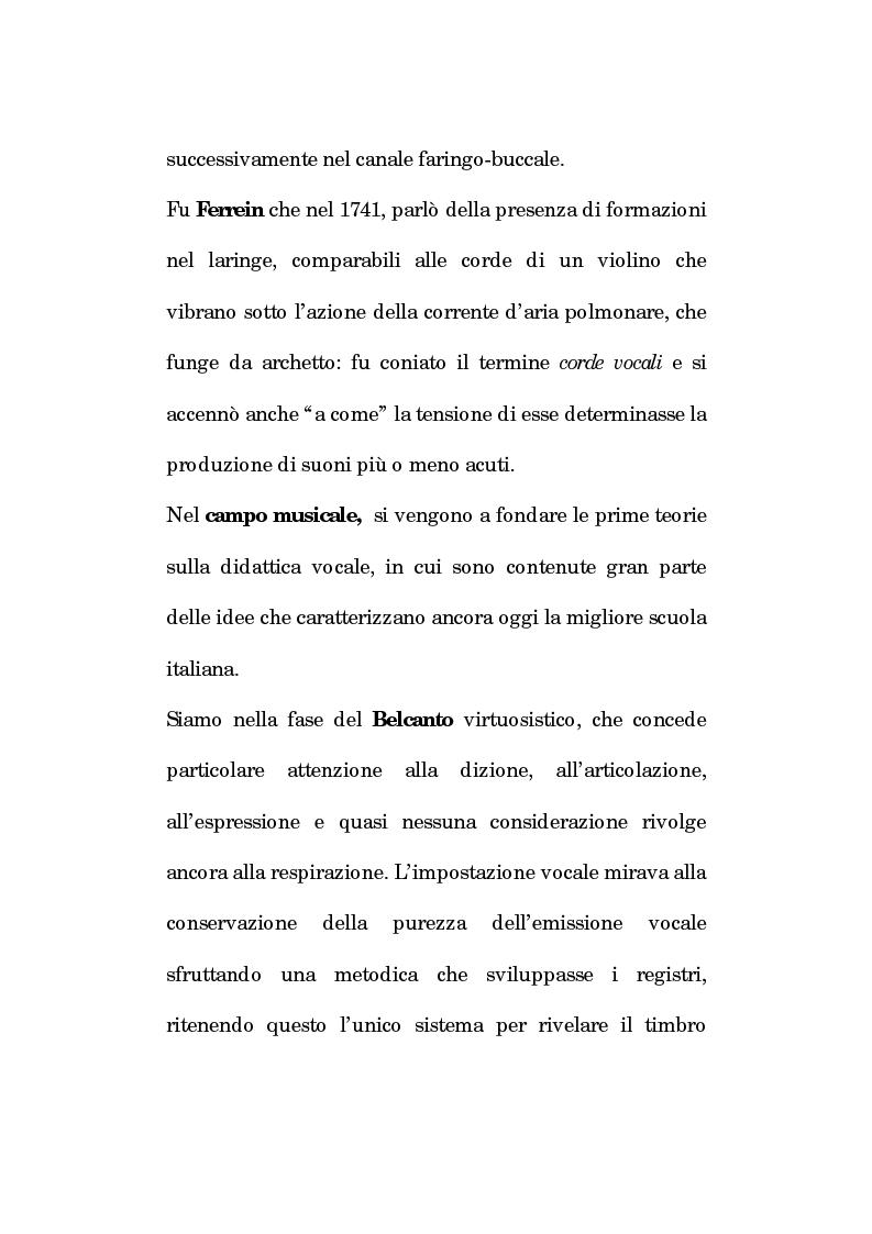 Anteprima della tesi: Pedagogia vocale e terapia riabilitativa nello specifico attorale, Pagina 12