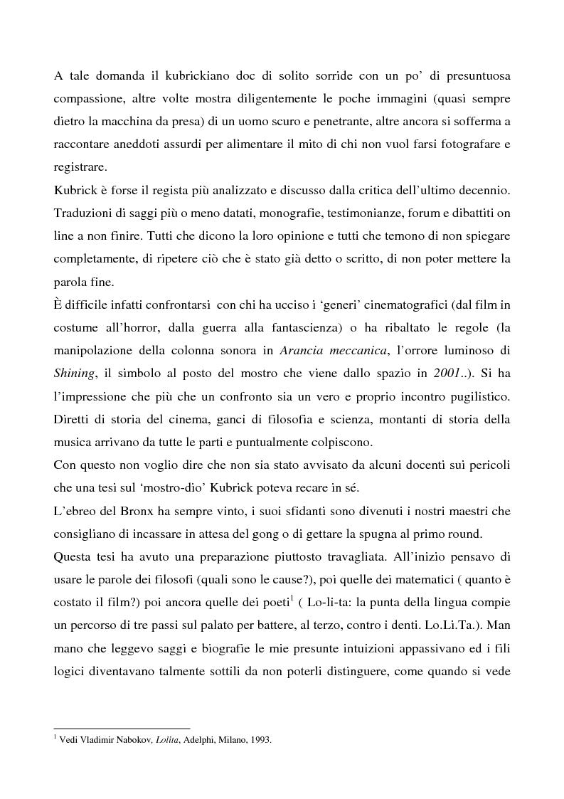 """Anteprima della tesi: Odissea musicale: la colonna sonora di ''2001: A Space Odyssey"""", Pagina 3"""