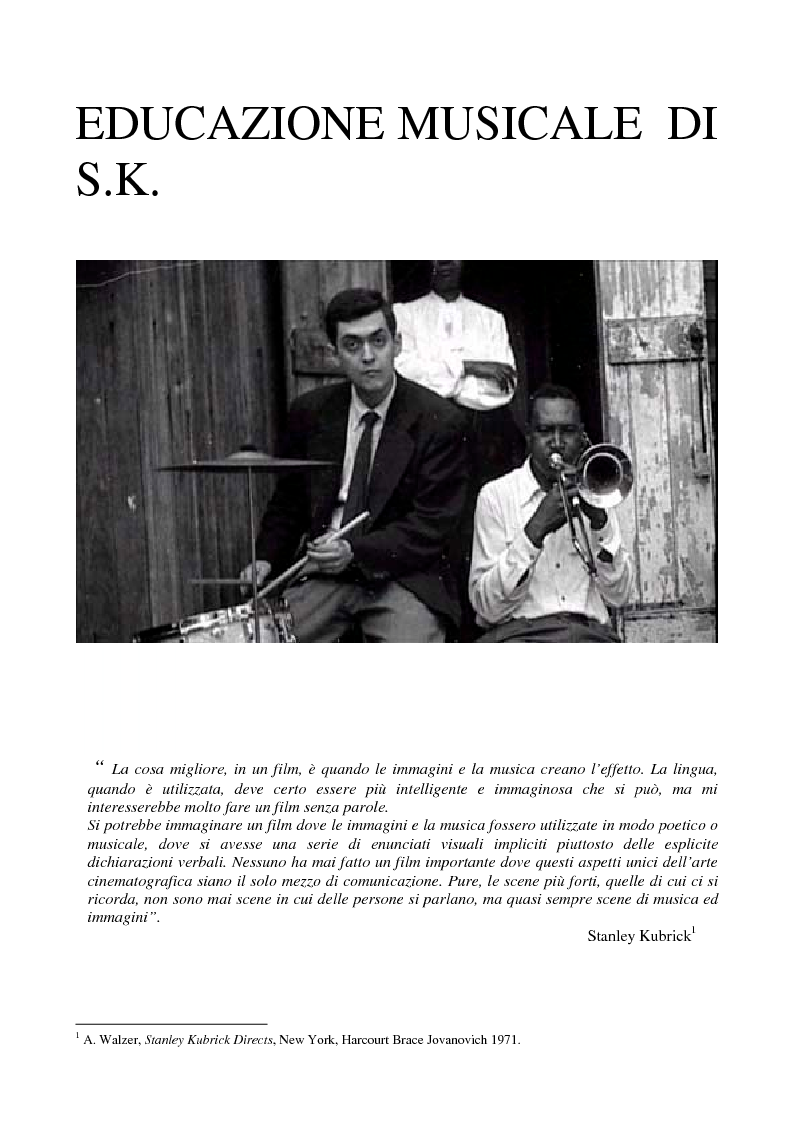 """Anteprima della tesi: Odissea musicale: la colonna sonora di ''2001: A Space Odyssey"""", Pagina 6"""