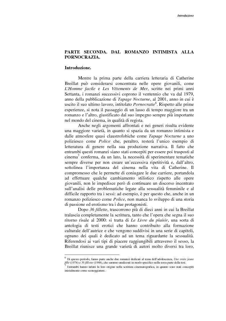 Anteprima della tesi: L'opera narrativa di Catherine Breillat, Pagina 4