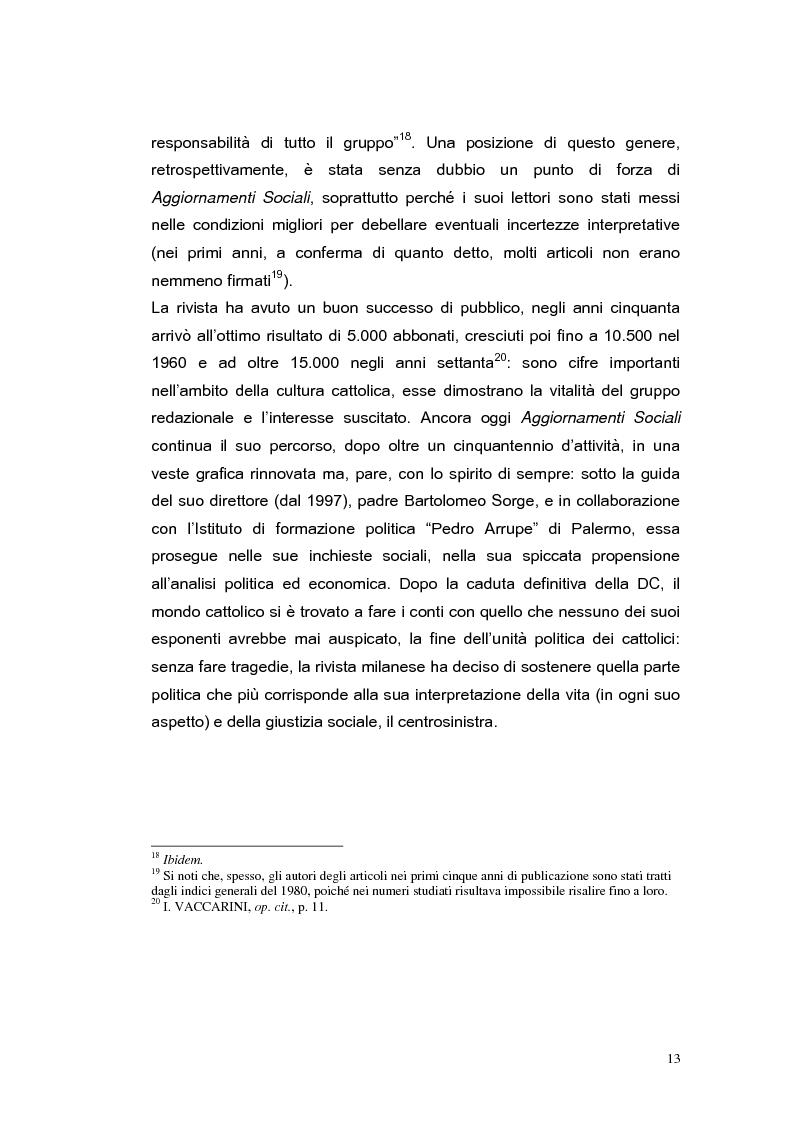 Anteprima della tesi: ''Aggiornamenti Sociali'' 1950-1963: un percorso attraverso i cambiamenti politico-sociali negli anni della ricostruzione e del boom economico, Pagina 10