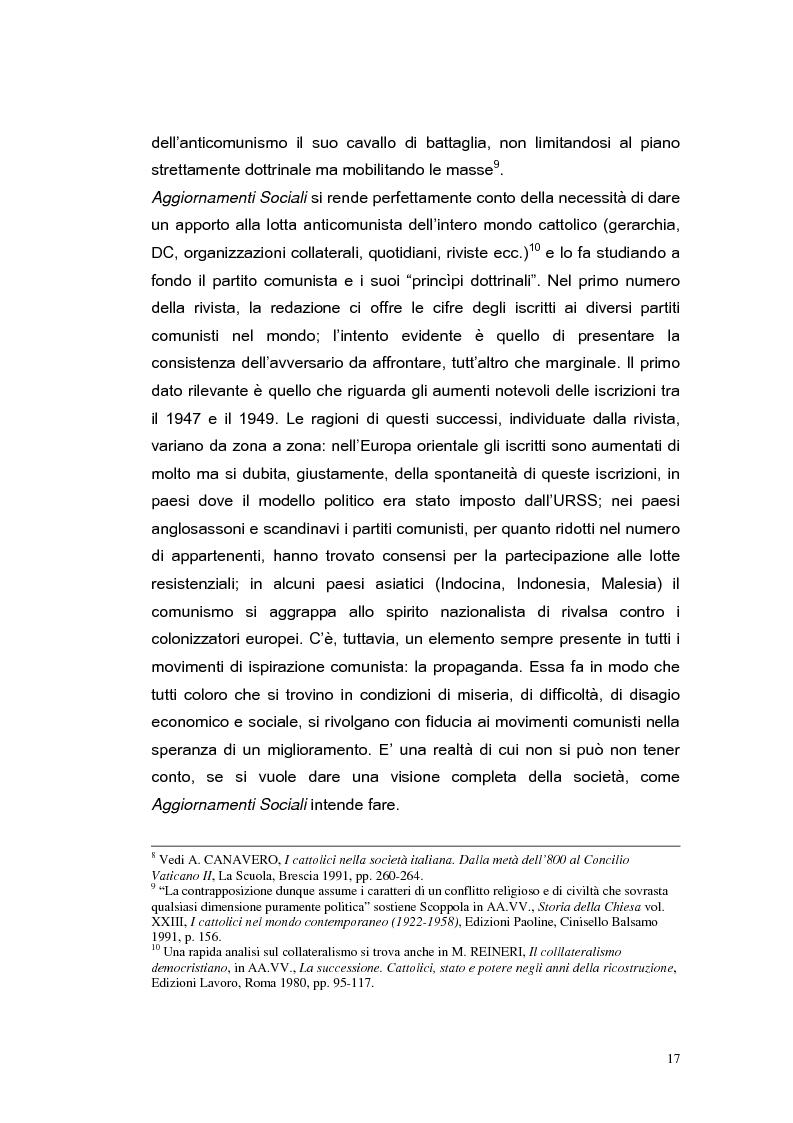Anteprima della tesi: ''Aggiornamenti Sociali'' 1950-1963: un percorso attraverso i cambiamenti politico-sociali negli anni della ricostruzione e del boom economico, Pagina 14