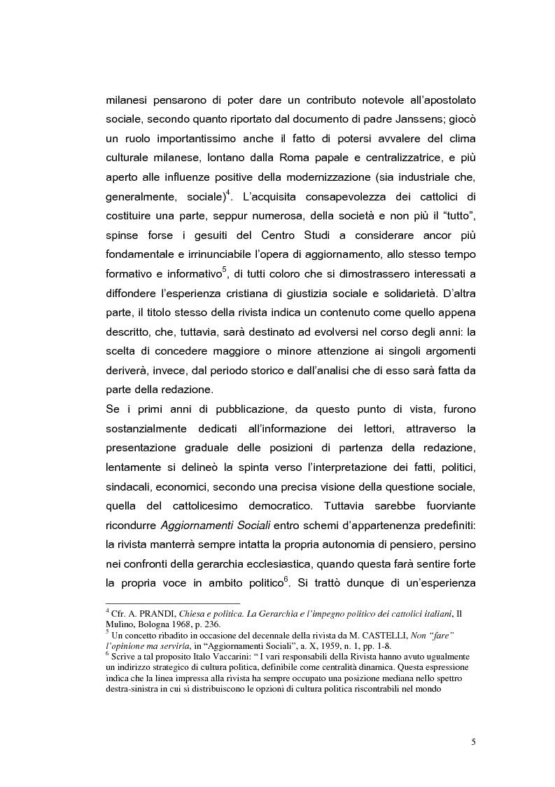Anteprima della tesi: ''Aggiornamenti Sociali'' 1950-1963: un percorso attraverso i cambiamenti politico-sociali negli anni della ricostruzione e del boom economico, Pagina 2