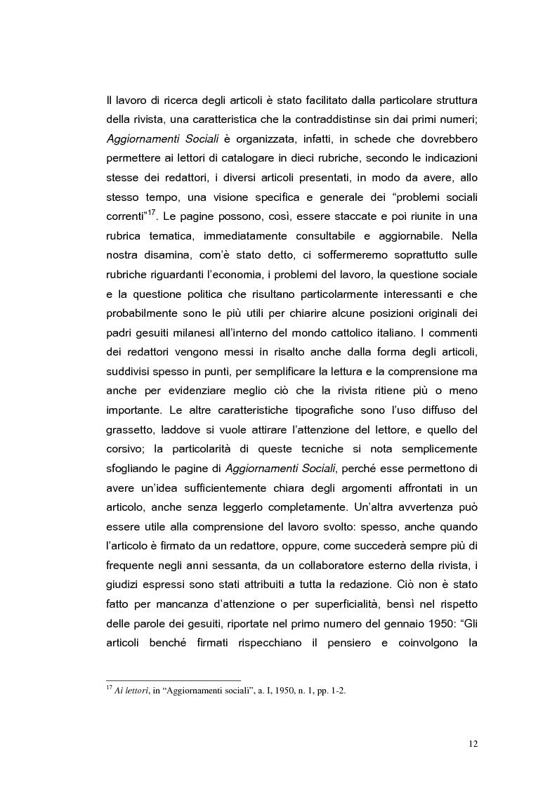 Anteprima della tesi: ''Aggiornamenti Sociali'' 1950-1963: un percorso attraverso i cambiamenti politico-sociali negli anni della ricostruzione e del boom economico, Pagina 9