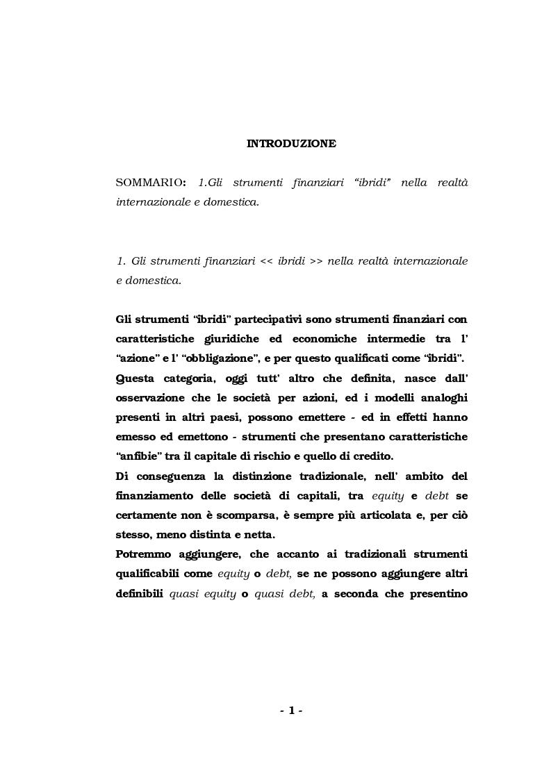 Anteprima della tesi: Strumenti ''ibridi'' partecipativi: profili tipologici, Pagina 1