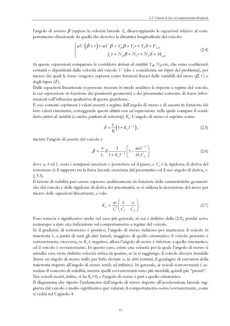 Anteprima della tesi: Sistemi di sospensione attiva con molle ad aria per autoveicoli, Pagina 10