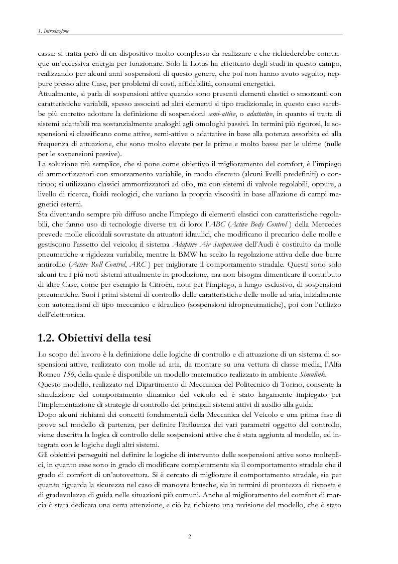 Anteprima della tesi: Sistemi di sospensione attiva con molle ad aria per autoveicoli, Pagina 2