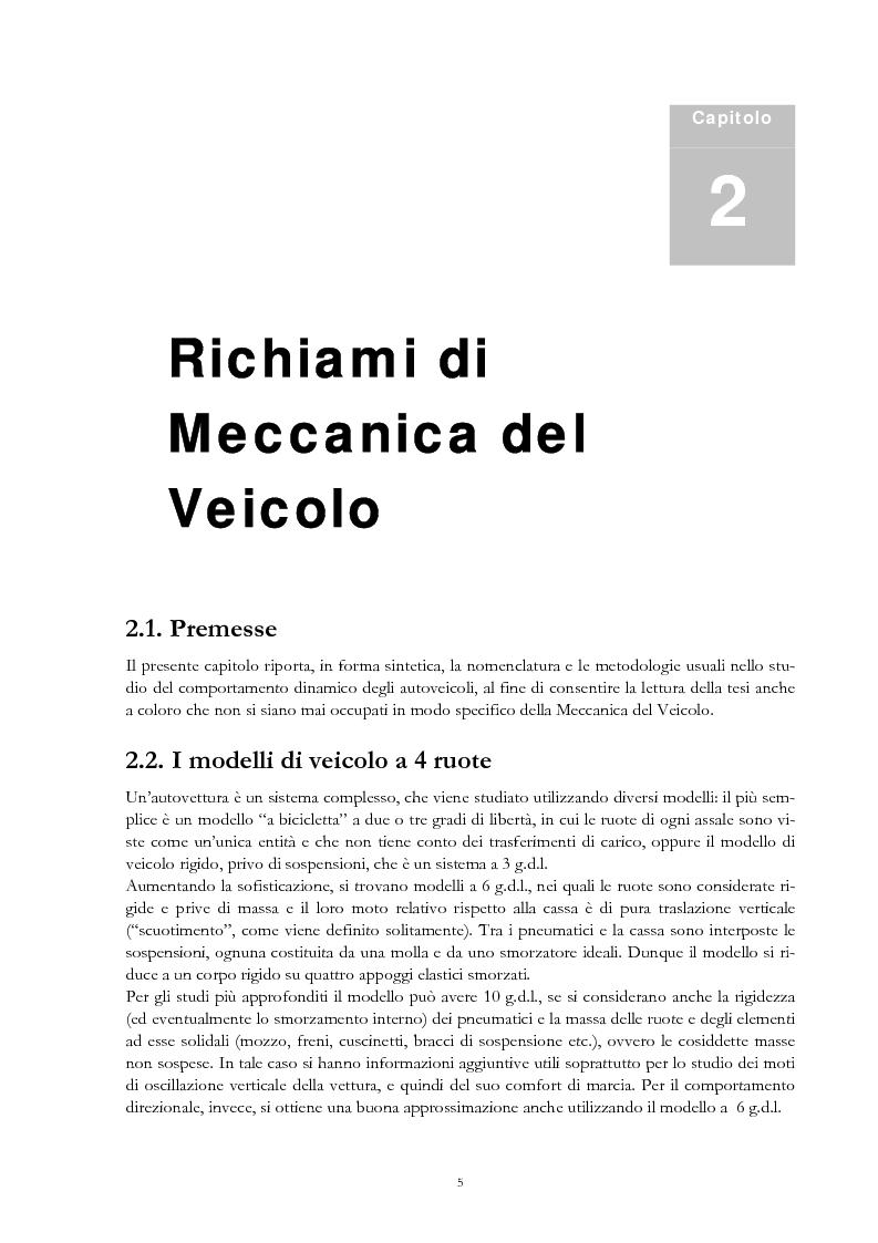Anteprima della tesi: Sistemi di sospensione attiva con molle ad aria per autoveicoli, Pagina 4