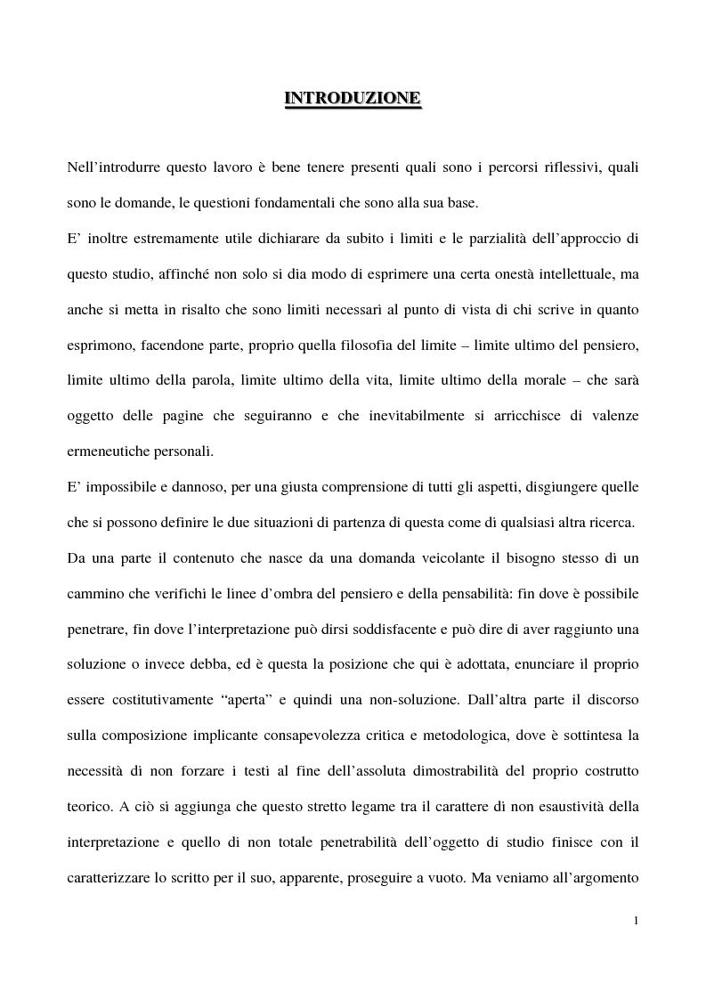 Anteprima della tesi: L'impossibilità del negativo. Il problema del nichilismo in Fedor M. Dostoevskij, Pagina 1
