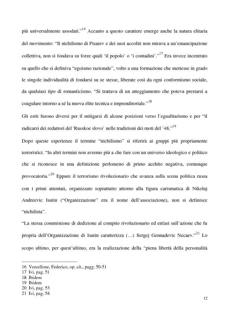 Anteprima della tesi: L'impossibilità del negativo. Il problema del nichilismo in Fedor M. Dostoevskij, Pagina 12