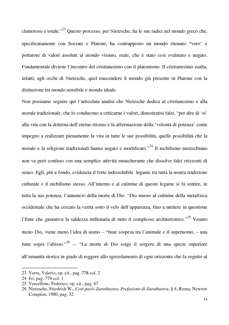 Anteprima della tesi: L'impossibilità del negativo. Il problema del nichilismo in Fedor M. Dostoevskij, Pagina 14
