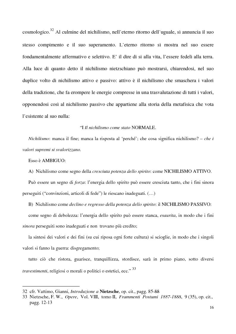 Anteprima della tesi: L'impossibilità del negativo. Il problema del nichilismo in Fedor M. Dostoevskij, Pagina 16