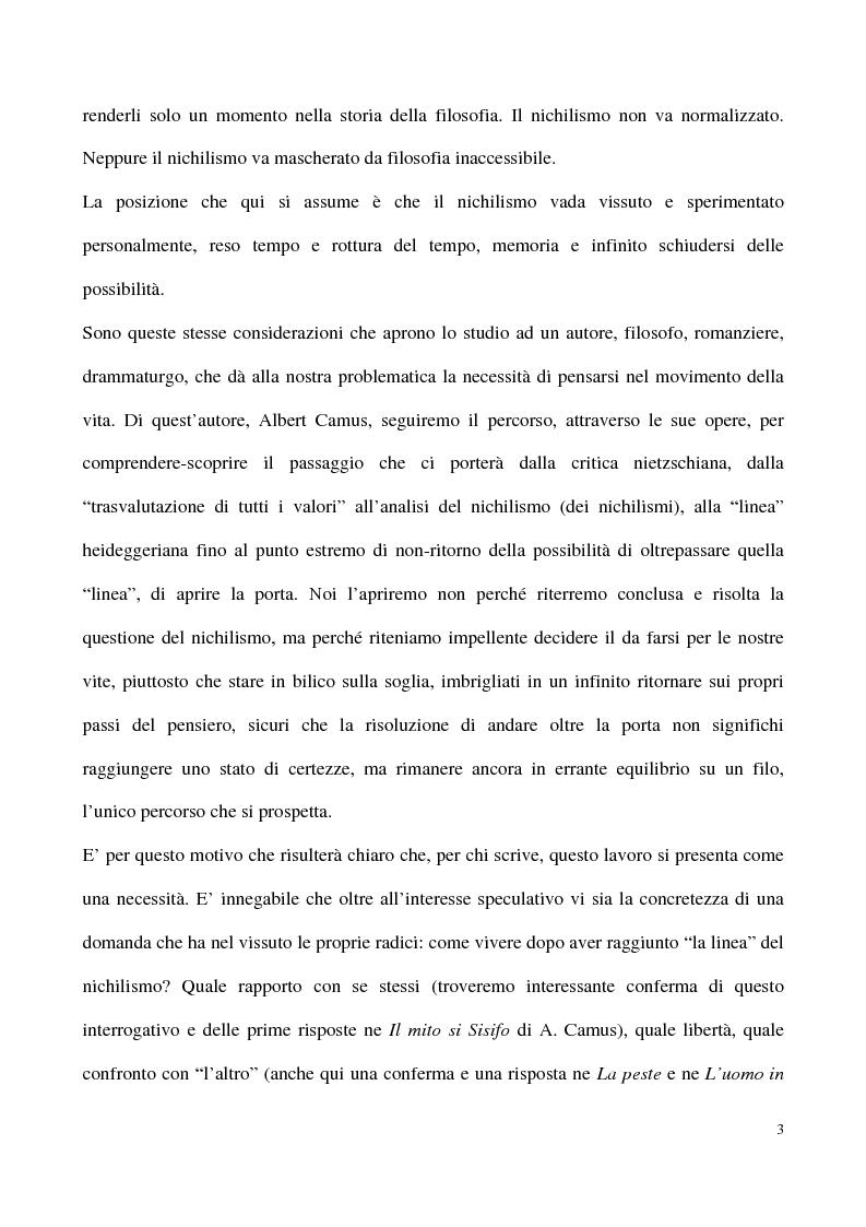 Anteprima della tesi: L'impossibilità del negativo. Il problema del nichilismo in Fedor M. Dostoevskij, Pagina 3