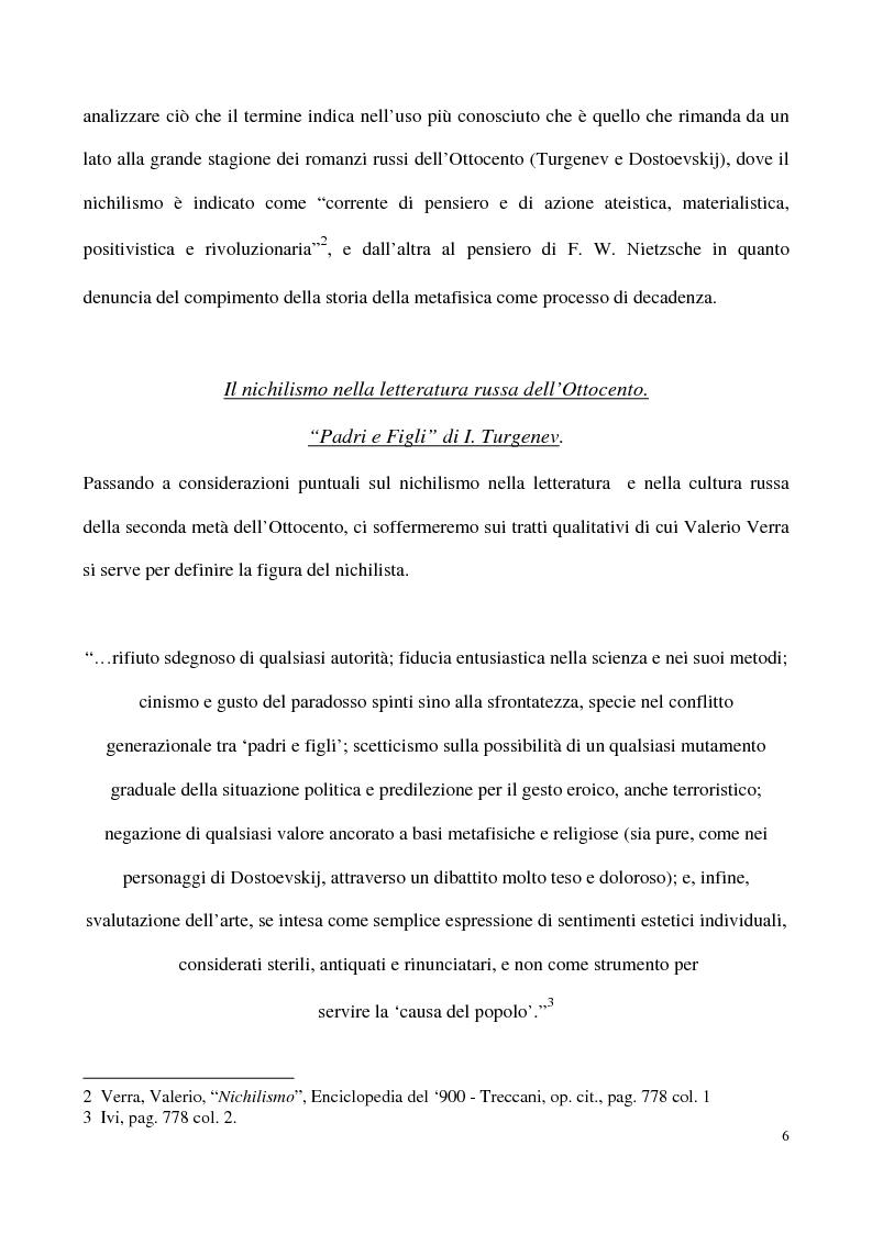 Anteprima della tesi: L'impossibilità del negativo. Il problema del nichilismo in Fedor M. Dostoevskij, Pagina 6