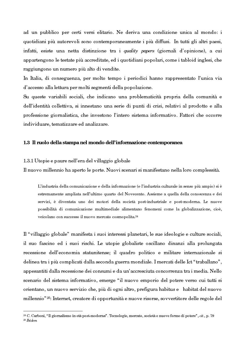 Anteprima della tesi: Leggo City in Metro. Viaggio nel fenomeno della free press, Pagina 10