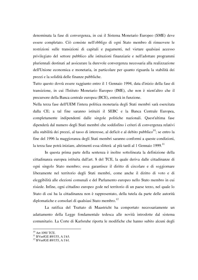 Anteprima della tesi: Maastricht: la legittimità della costruzione europea nel dibattito tedesco, Pagina 11