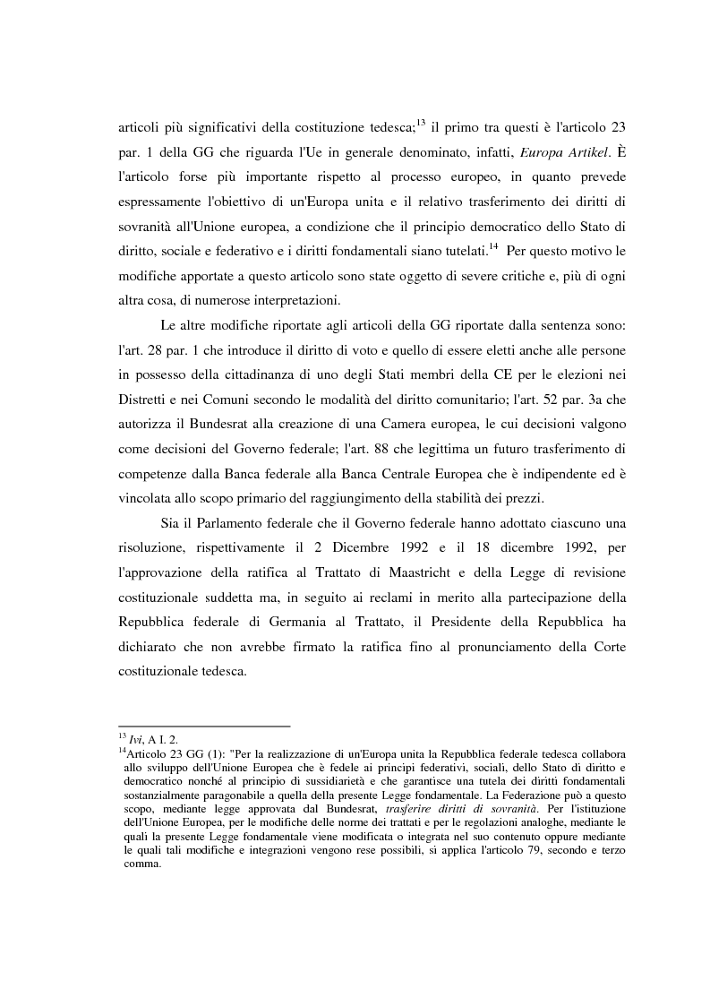 Anteprima della tesi: Maastricht: la legittimità della costruzione europea nel dibattito tedesco, Pagina 12