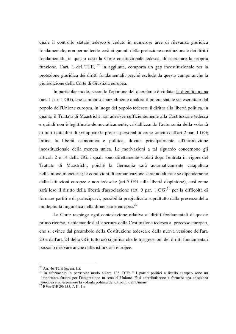 Anteprima della tesi: Maastricht: la legittimità della costruzione europea nel dibattito tedesco, Pagina 15
