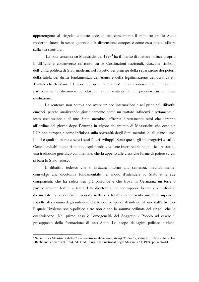 Anteprima della tesi: Maastricht: la legittimità della costruzione europea nel dibattito tedesco, Pagina 3