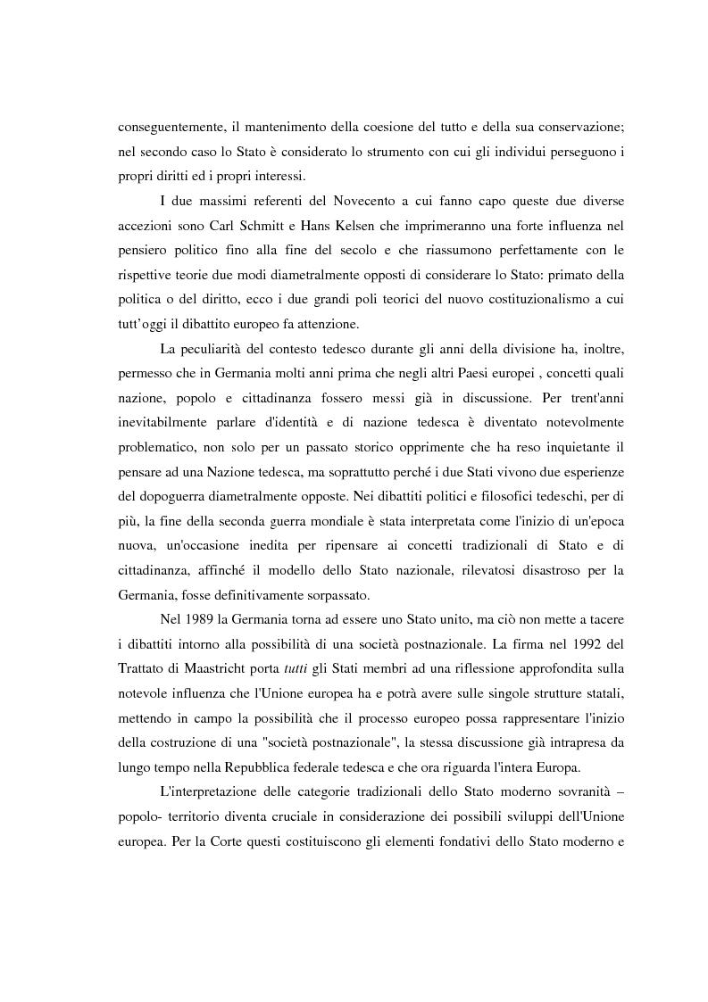 Anteprima della tesi: Maastricht: la legittimità della costruzione europea nel dibattito tedesco, Pagina 4