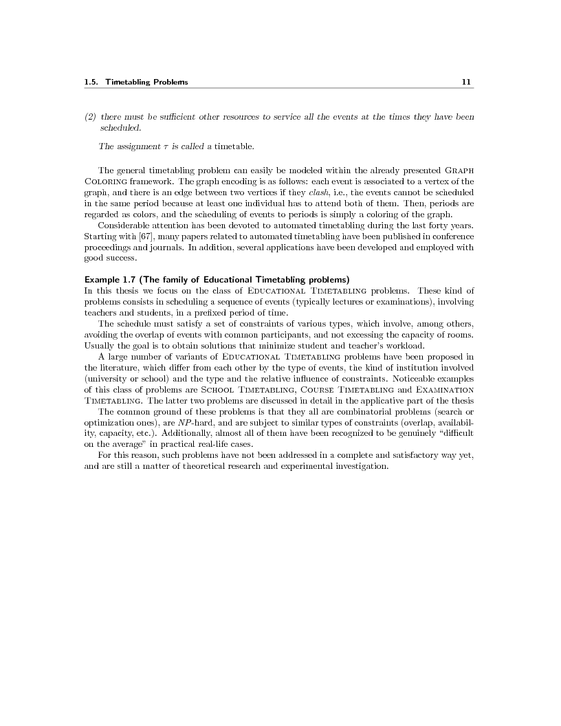 Anteprima della tesi: Local Search Techniques and Tools for Scheduling Problems, Pagina 13