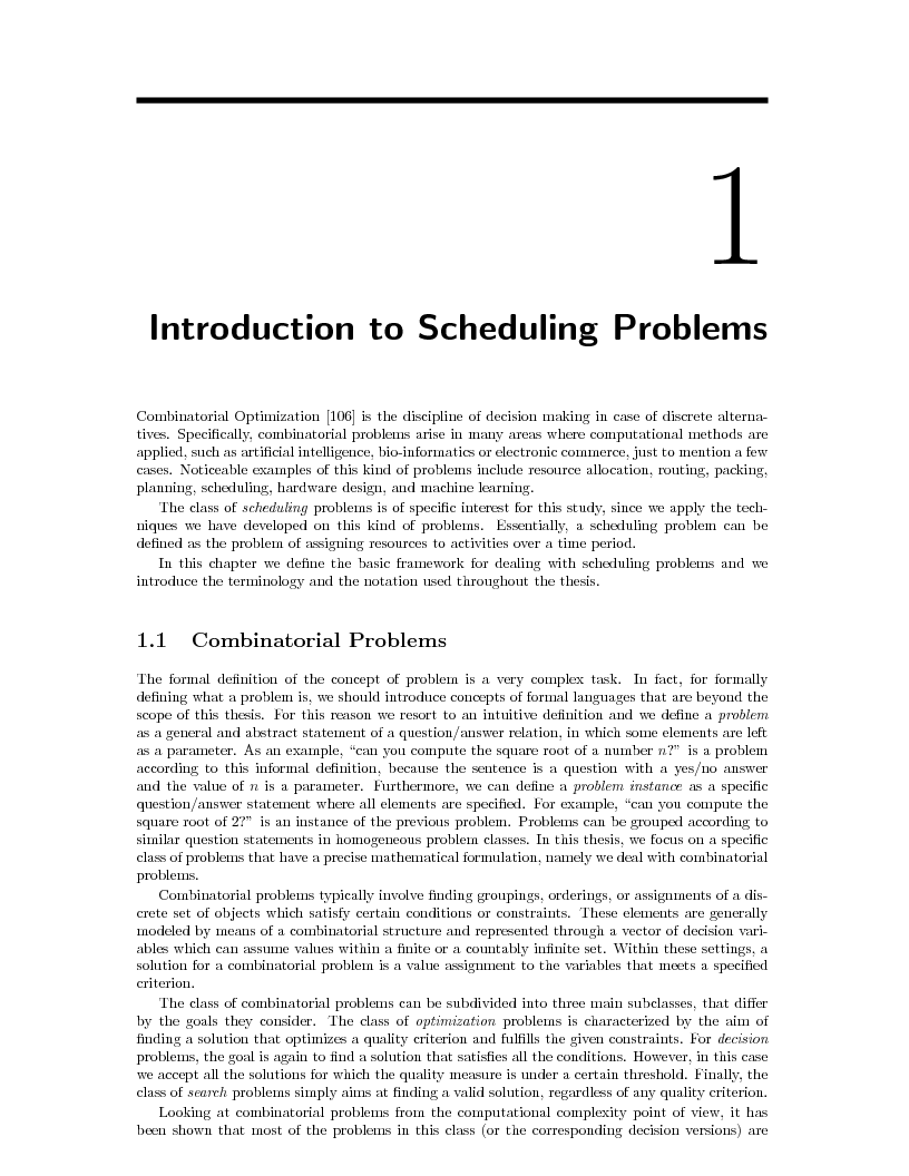 Anteprima della tesi: Local Search Techniques and Tools for Scheduling Problems, Pagina 5