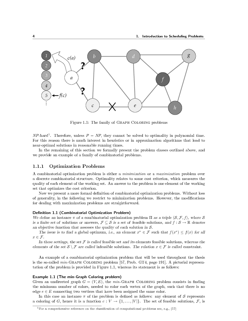 Anteprima della tesi: Local Search Techniques and Tools for Scheduling Problems, Pagina 6