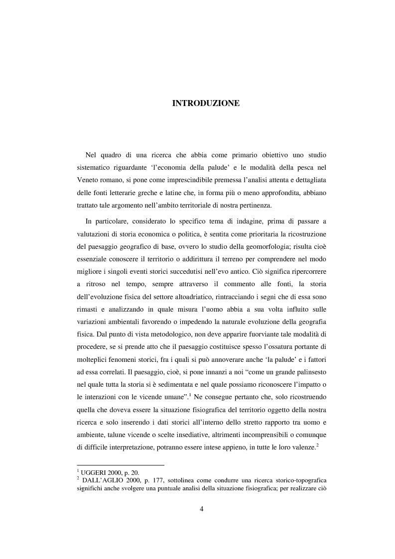 Anteprima della tesi: L'economia della palude e l'economia del mare nell'Alto Adriatico romano: immaginario antico e nuove prospettive esegetiche, Pagina 1