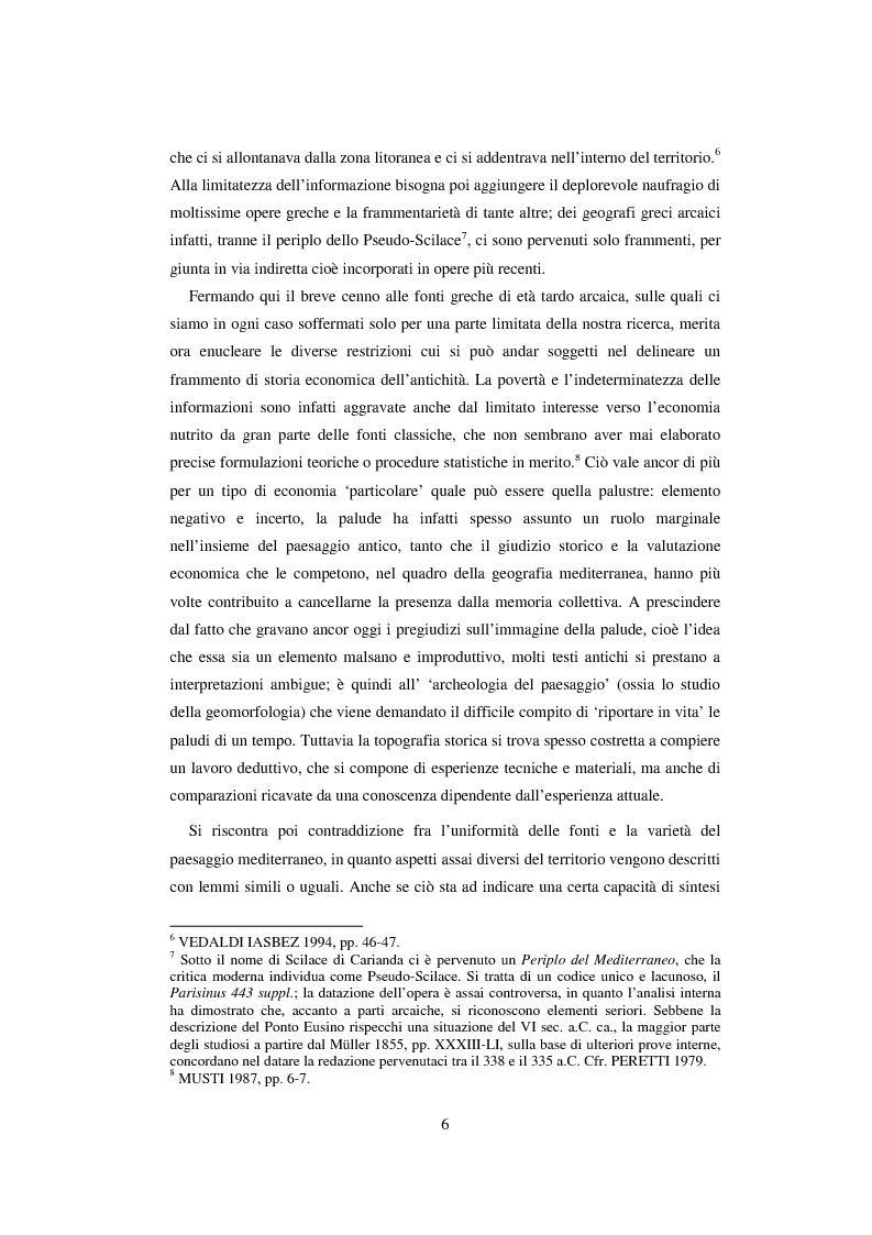 Anteprima della tesi: L'economia della palude e l'economia del mare nell'Alto Adriatico romano: immaginario antico e nuove prospettive esegetiche, Pagina 3
