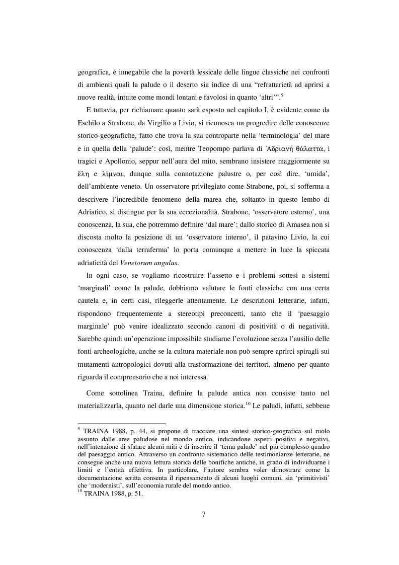 Anteprima della tesi: L'economia della palude e l'economia del mare nell'Alto Adriatico romano: immaginario antico e nuove prospettive esegetiche, Pagina 4