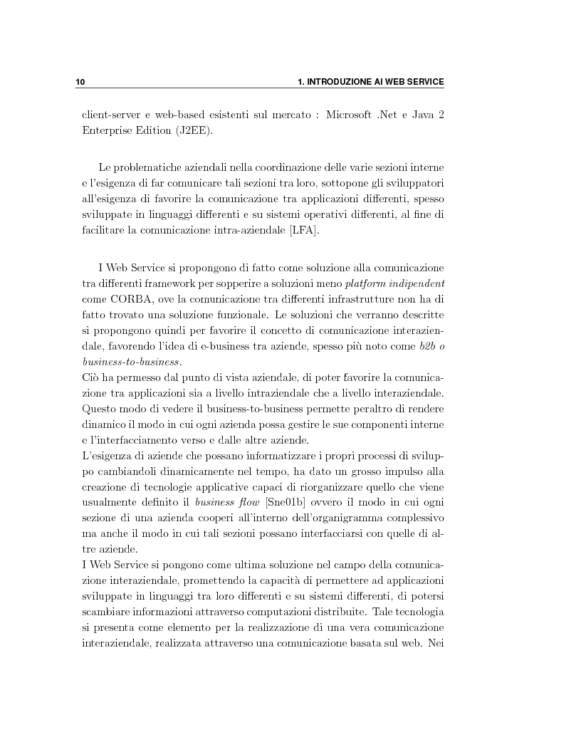 Anteprima della tesi: Progetto e orchestrazione di web services con Uml, Pagina 10
