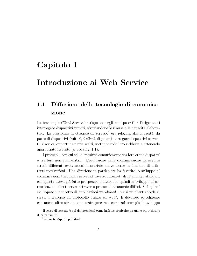 Anteprima della tesi: Progetto e orchestrazione di web services con Uml, Pagina 3