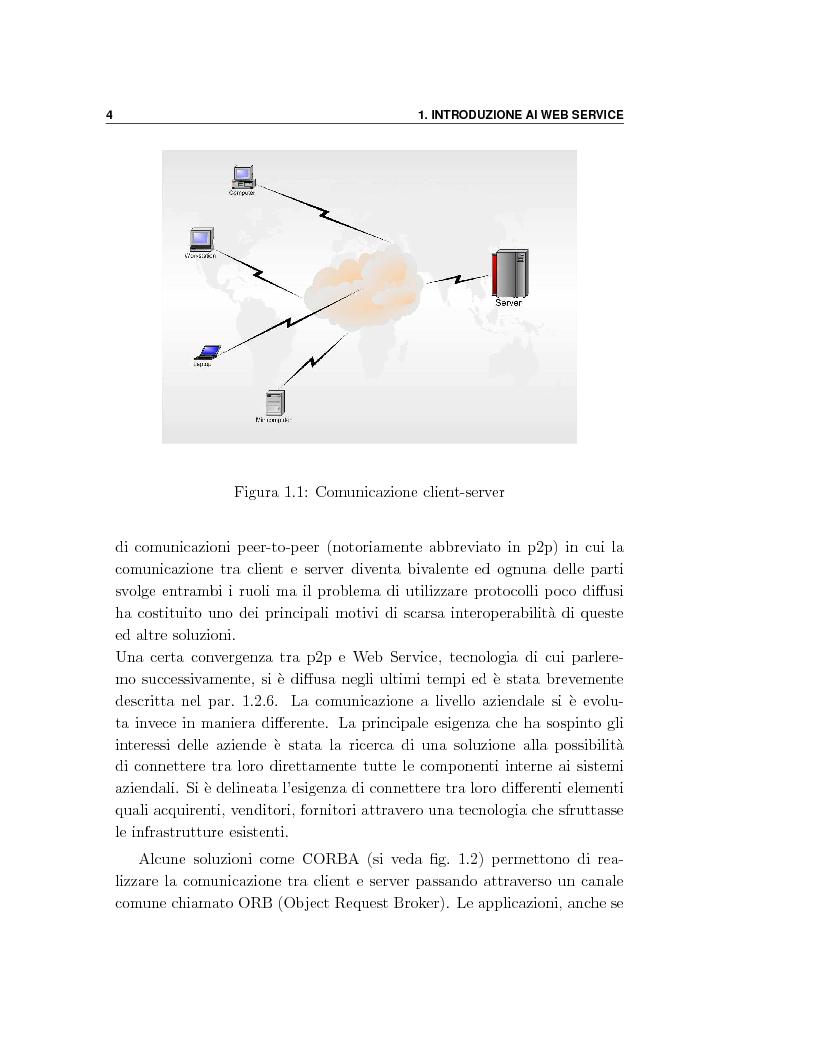 Anteprima della tesi: Progetto e orchestrazione di web services con Uml, Pagina 4