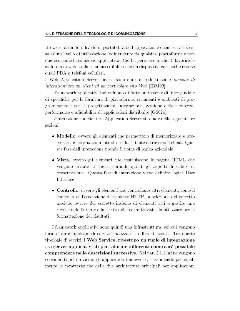 Anteprima della tesi: Progetto e orchestrazione di web services con Uml, Pagina 9