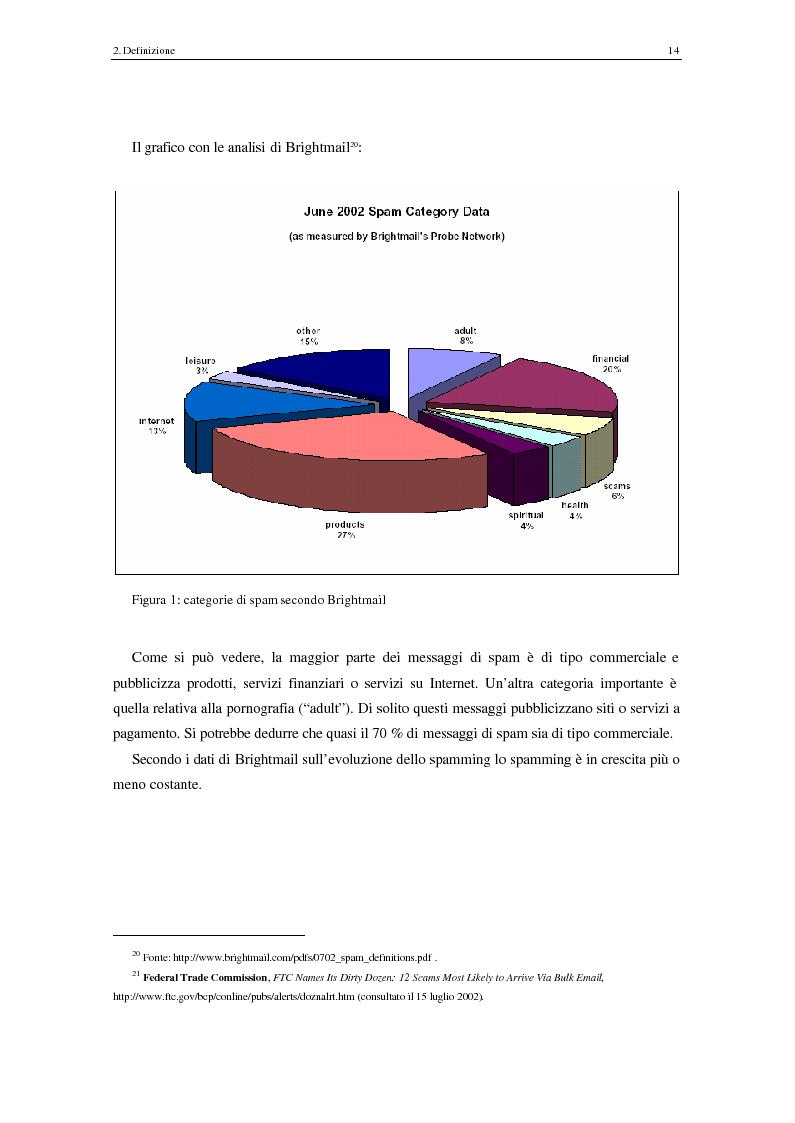 Anteprima della tesi: Analisi degli aspetti tecnici e comunicativi dello spamming sulla base di informazione documentaria e di test effettuati in rete, Pagina 14