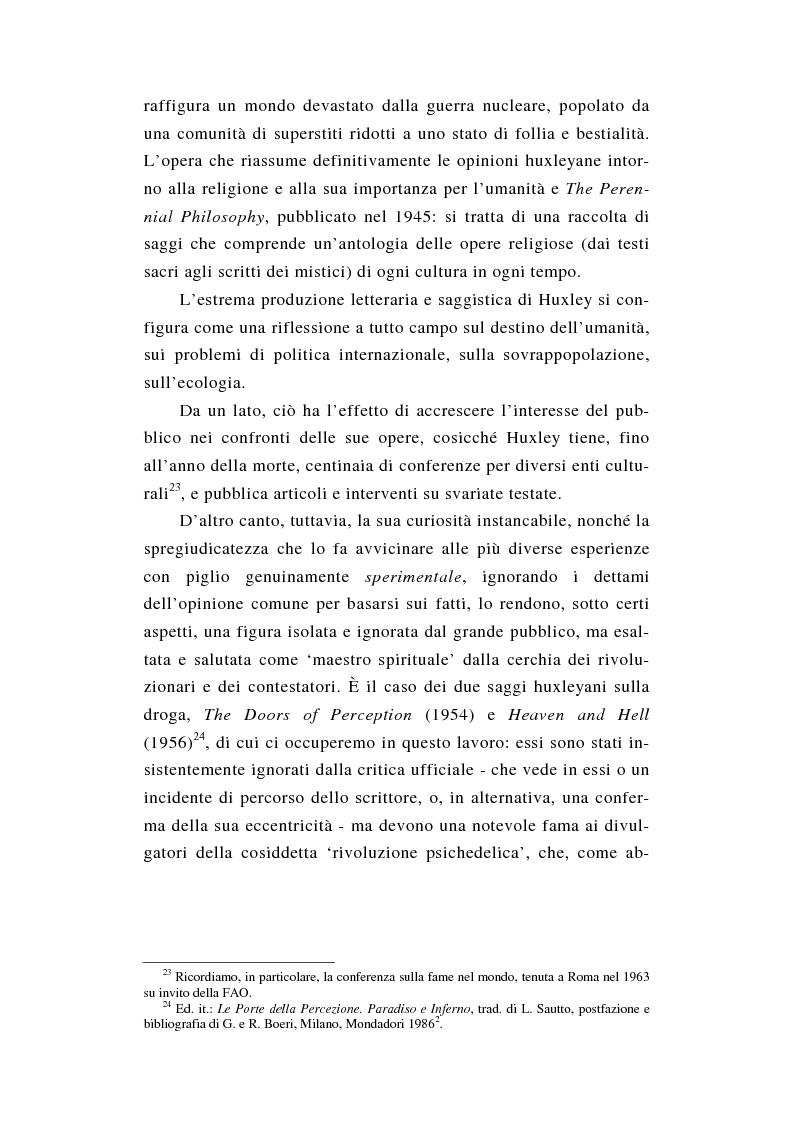 Anteprima della tesi: L'esperienza nuda. Spazio, tempo e colore nella riflessione di A. Huxley, Pagina 7