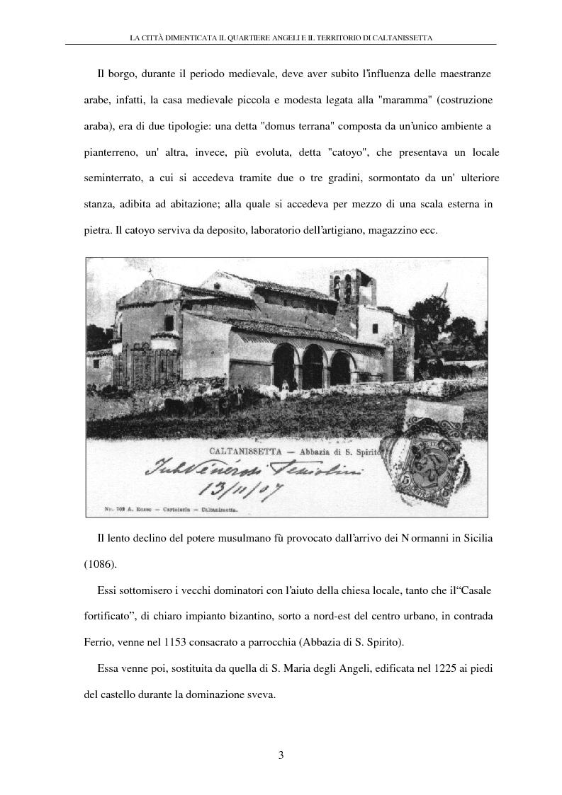 Anteprima della tesi: La città dimenticata: il quartiere Angeli e il territorio di Caltanissetta, Pagina 3