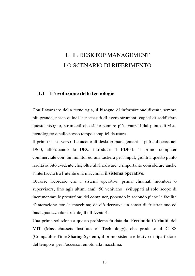 Anteprima della tesi: Gestione dell'utente e del suo desktop in un sistema informativo sanitario, il desktop management, Pagina 8