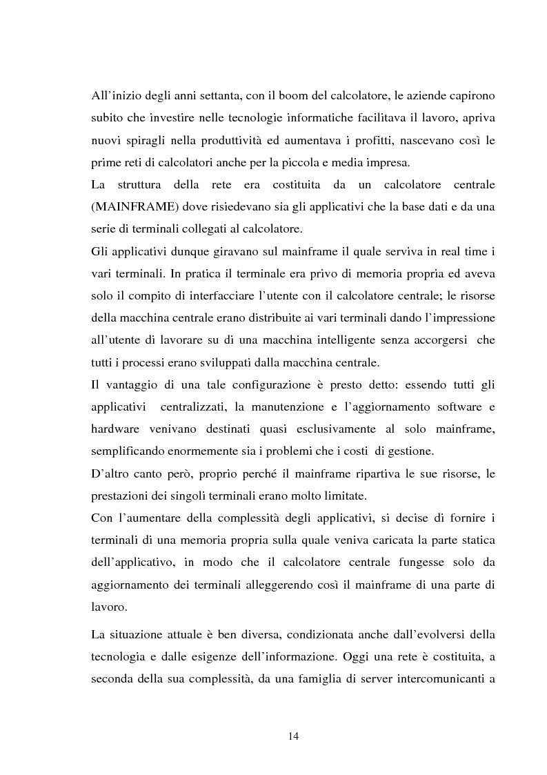 Anteprima della tesi: Gestione dell'utente e del suo desktop in un sistema informativo sanitario, il desktop management, Pagina 9