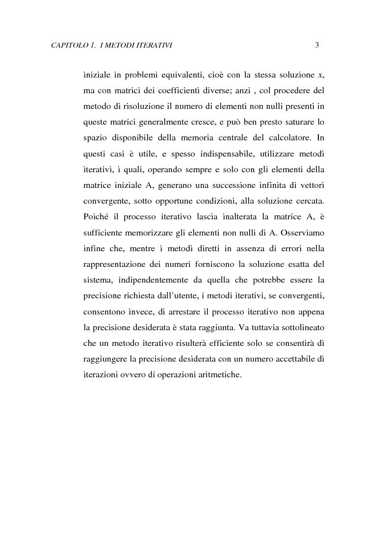 Anteprima della tesi: Metodi iterativi per la risoluzione di sistemi di equazioni lineari. Valutazione delle performance attraverso un codice Visual Basic, Pagina 6